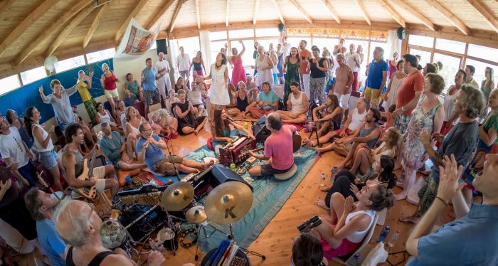 octagon-location-satyaa-pari-chanting-mantras-and-devotional-songs-and-concert-holidays-in-corfu-greece