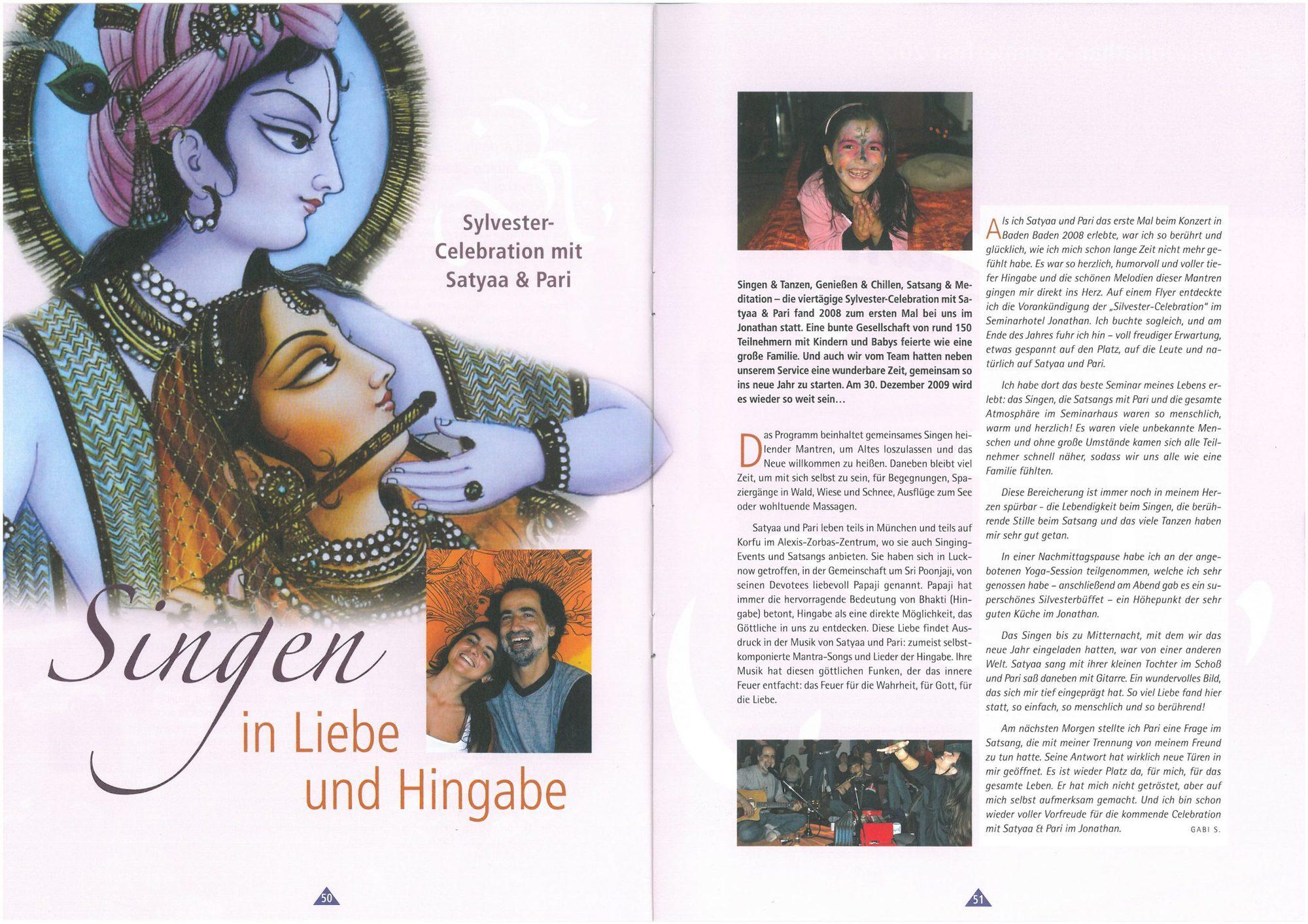 Jonathan Singen In Liebe Und Hingabe Satyaa Pari