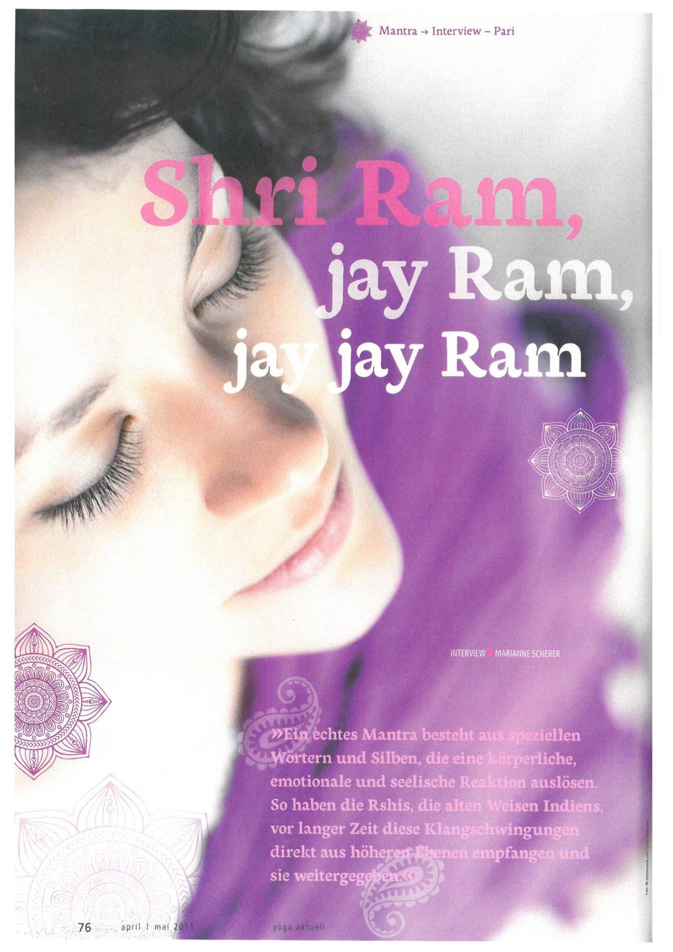 Yoga aktuell  – Shri Ram, jay Ram, jay jay Ram