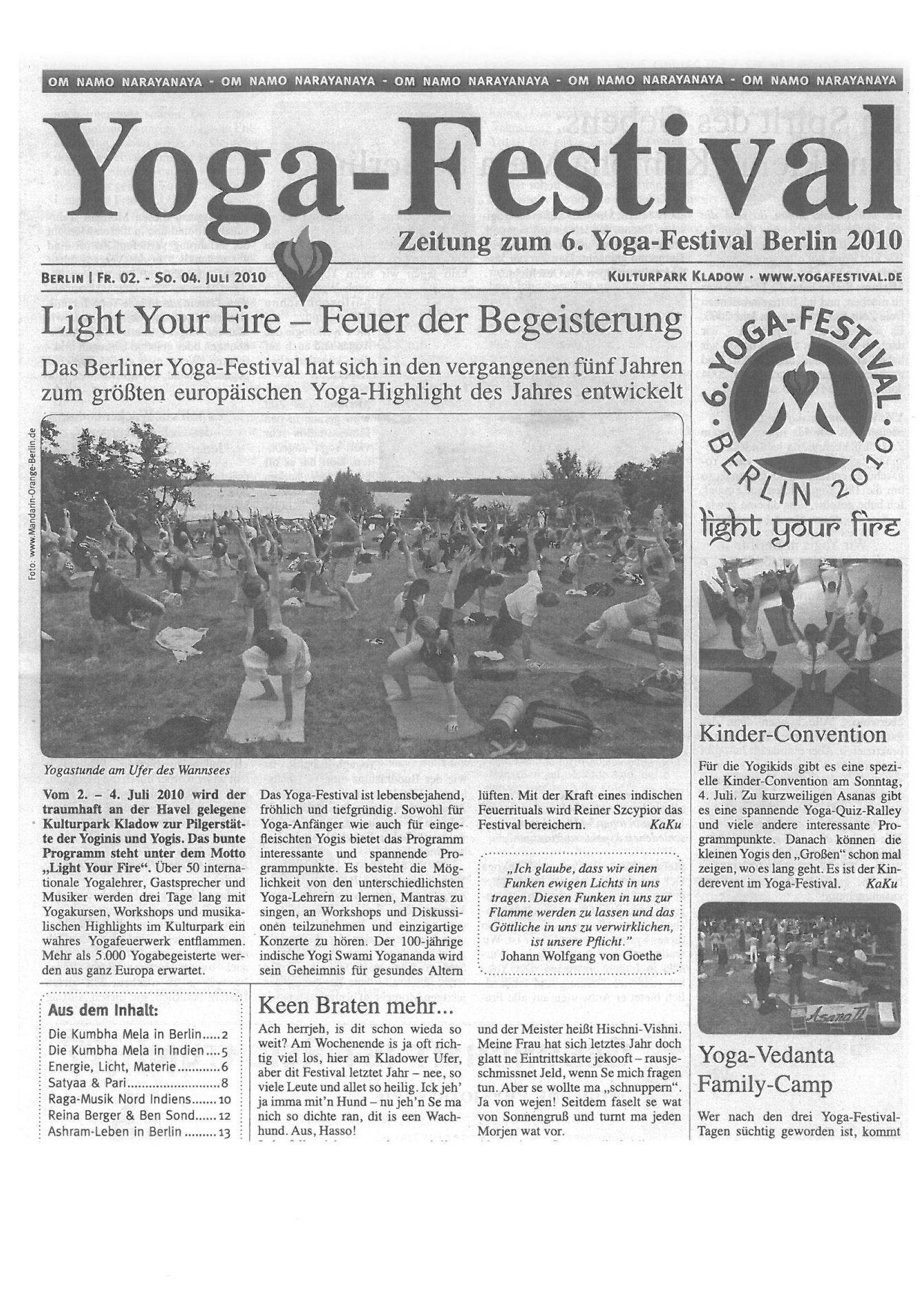 Yoga Festival – Mitten ins Herz