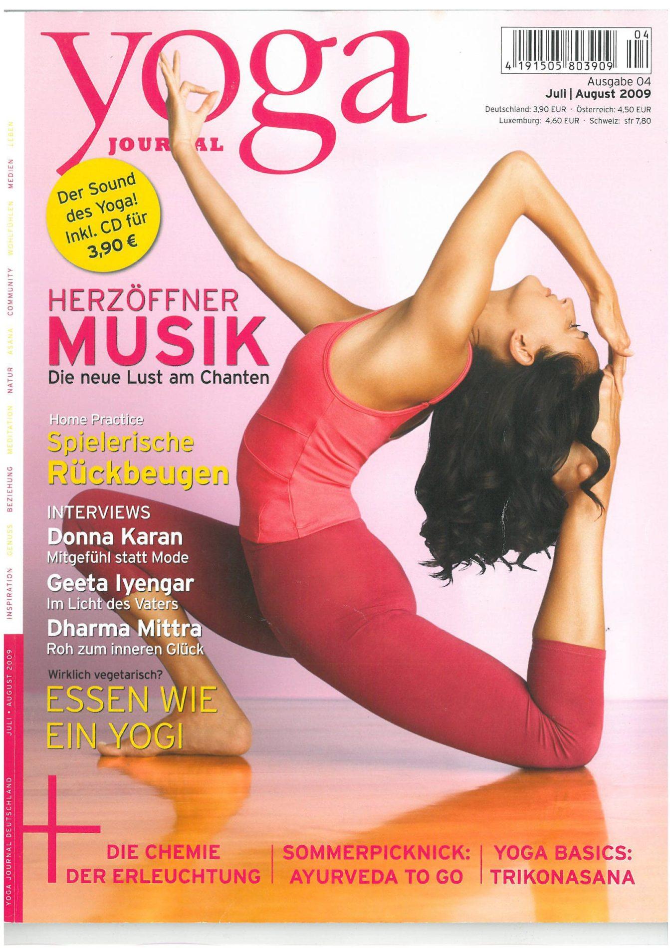 Yoga Journal Die Bhaktiwelle Kam Und Nahm Uns Mit Satyaa Pari