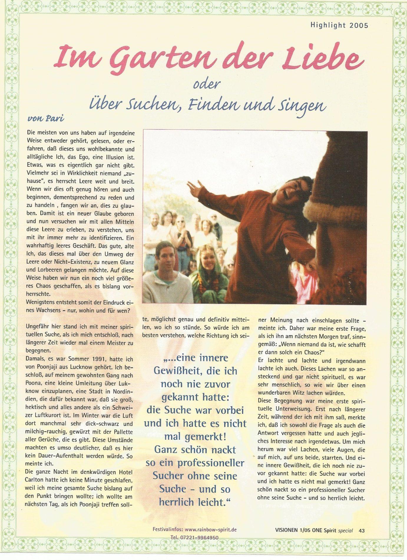 Visionen Im Garten Der Liebe Satyaa Pari Retreats Mantras